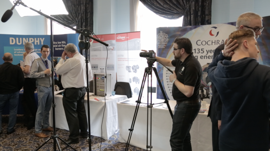 Jovan filming the CEA conference